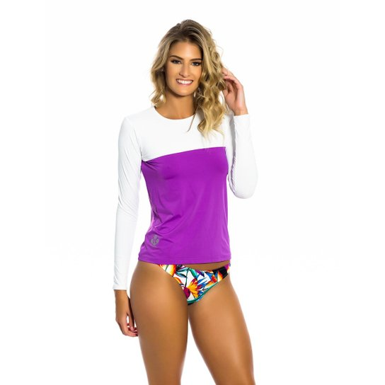 304a133557 Camisa Kalini Beachwear UV Feminina - Roxo - Compre Agora