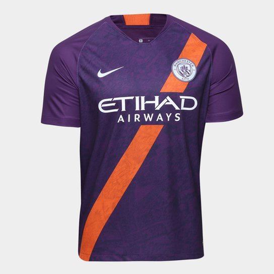 Camisa Manchester City Third 2018 s n° - Torcedor Nike Masculina - Roxo a729f32c9624e