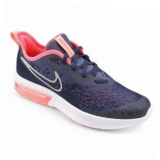 Tênis Infantil Nike Air Max Sequent 4 Feminino de944ad1c22