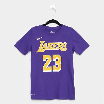 Camiseta NBA Los Angeles Lakers Infantil Nike Lebron James 23 Masculina