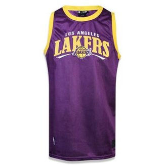 Regata Los Angeles Lakers NBA New Era Masculina f4a6e3e081c02