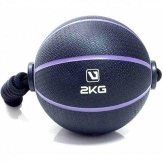 c61a4681e51f4 Bola Liveup De Peso Medicine Ball Ls3006E 2 Com Corda 2Kg