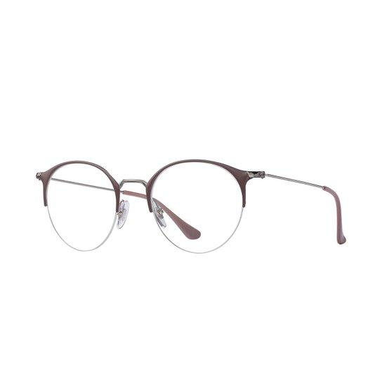 ec09d1b235e5b Armação de Óculos Ray-Ban RB3578V Feminina - Roxo - Compre Agora ...