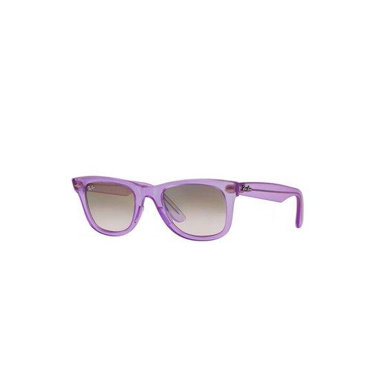 cd89f6c44475b Óculos de Sol Ray-Ban Original Wayfarer Feminino - Roxo - Compre ...