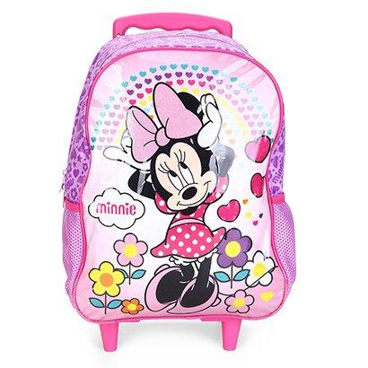 Mochila Escolar Infantil Disney Escolar Xeryus Minnie Daydreaming Com Rodinhas