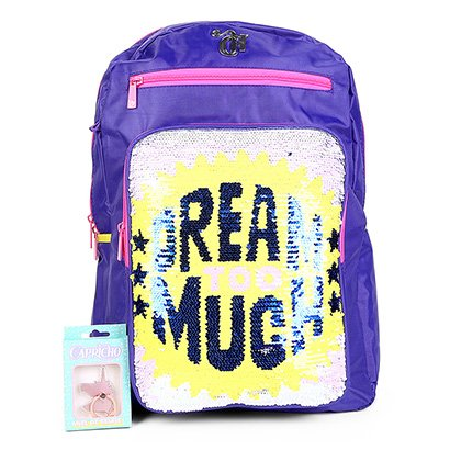 Mochila Escolar Infantil DMW Capricho Paetês Dream Too Much