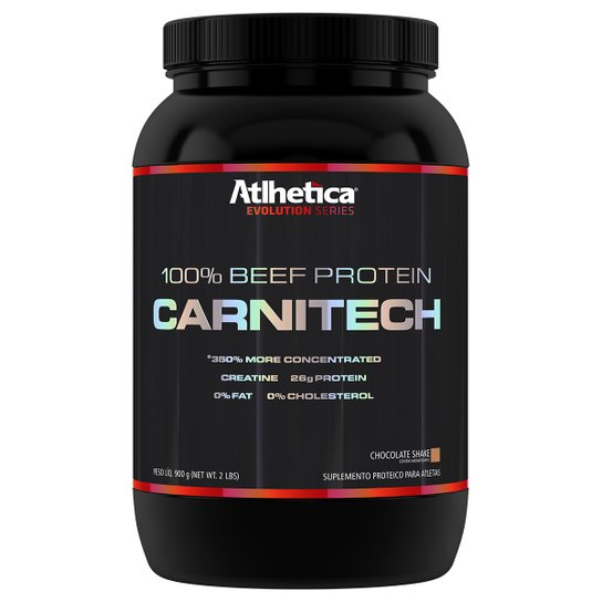 0b4d6174e Carnitech 100% Beef Protein 900 g - Atlhetica Nutrition - Chocolate ...