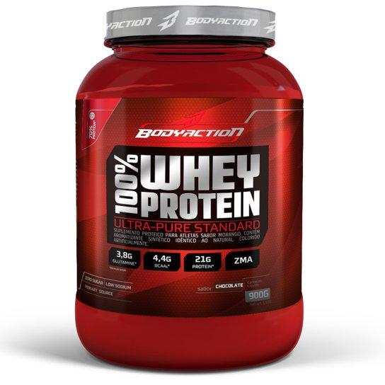 0136055e4 100% Whey Protein 900 g - Body Action - Chocolate - Compre Agora ...