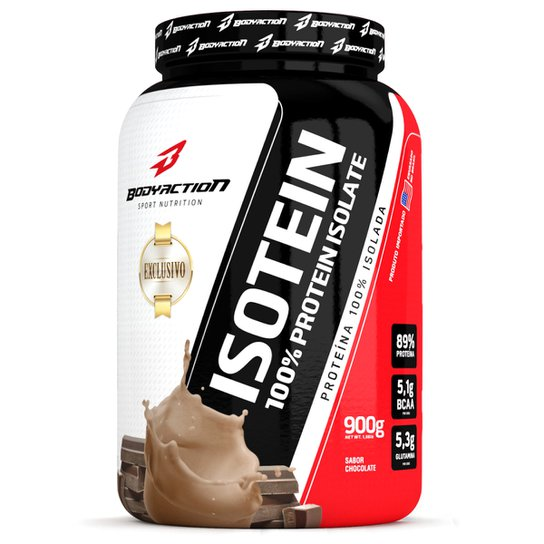 83e500100 Whey Protein Blend Isotein 900g Exclusivo - Body Action - Chocolate ...