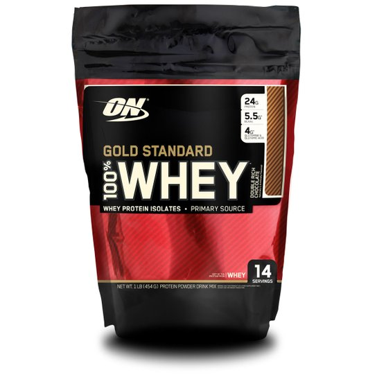 0c88cb791 100% Whey Protein Gold Standard Optimum Nutrition 1 lb - Chocolate ...