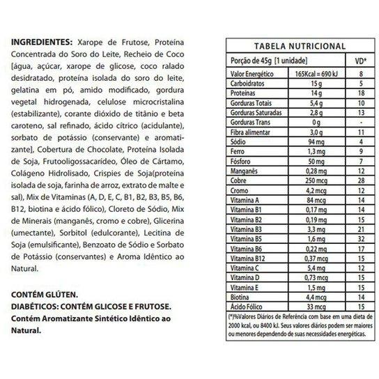 3b4d6eec0 Protein Crisp Bar 12 barras - IntegralMédica - Chocolate - Compre ...
