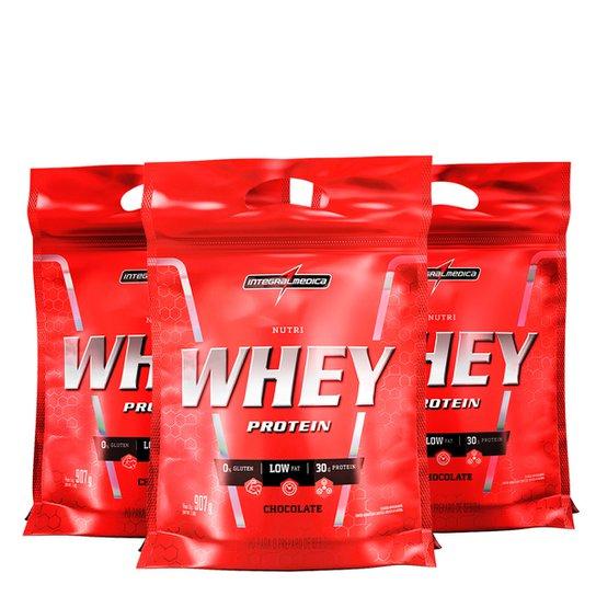 de98b7ca6 Kit Nutri Whey Protein 3x 907 g Refi - IntegralMédica - Chocolate ...