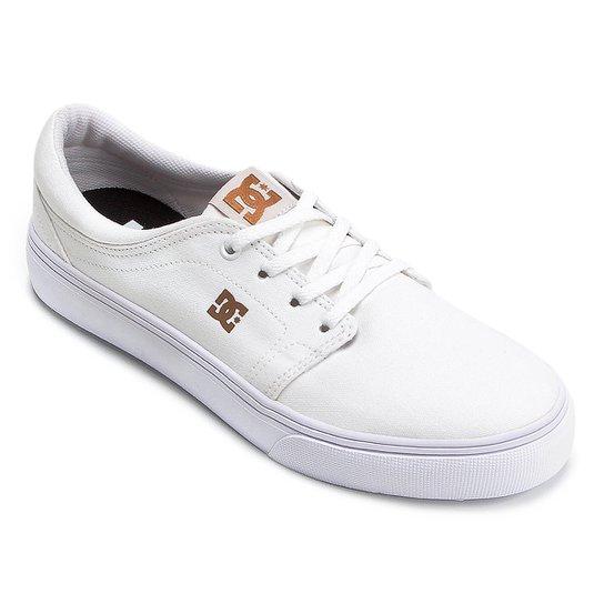709d111a5ce Tênis DC Shoes Trase Tx Masculino - Branco e Caramelo - Compre Agora ...