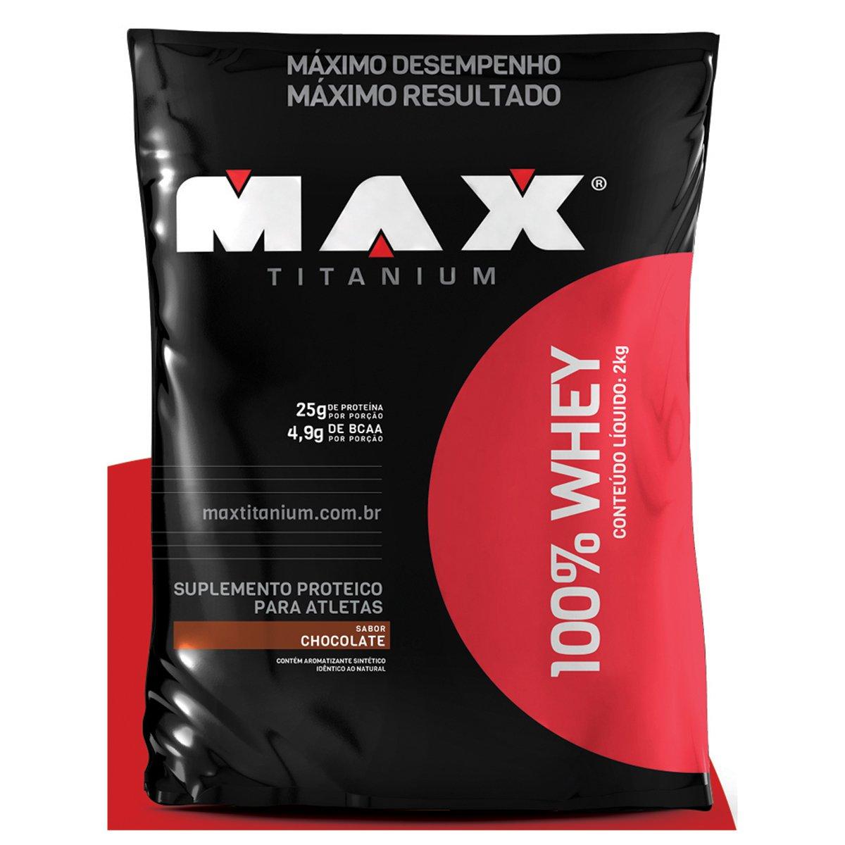 100% Whey 2 kg - Max Titanium