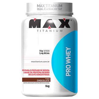 000403797 Whey Protein Pro Whey 1Kg Exclusivo - Max Titanium