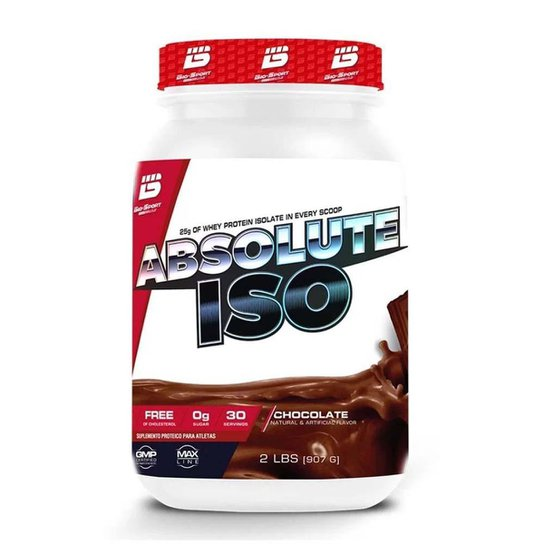 6352b387a Whey Protein Isolado Absolute ISO 2Lbs Bio Sport - Chocolate