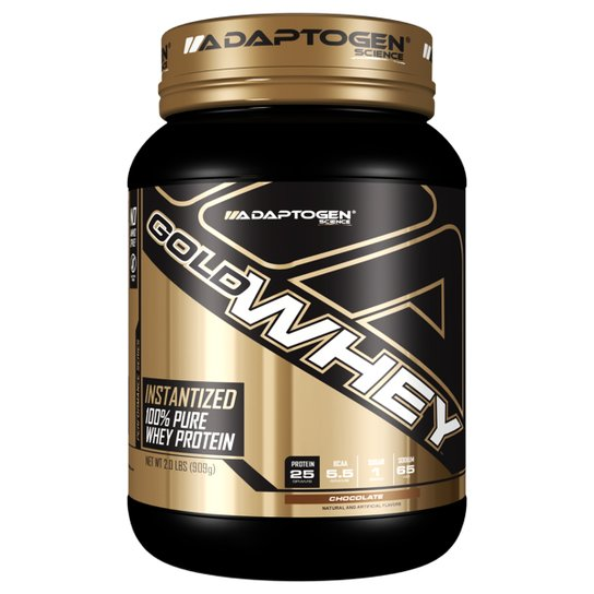 4465d30a4 Gold Whey 2Lbs - Adaptogen Science - Chocolate - Compre Agora