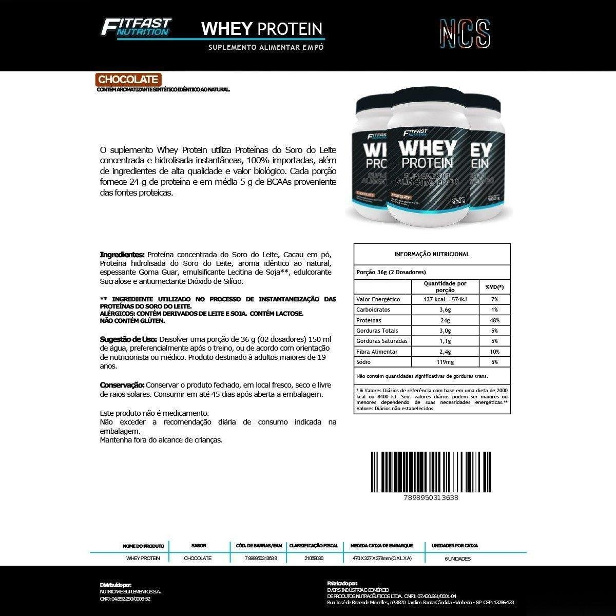 Whey Protein 900G - Fitfast Nutrition - 1