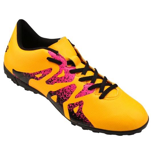 Chuteira Adidas X 15 4 TF Society - Amarelo e Rosa - Compre Agora ... ce4eca8965d65