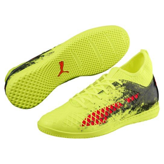 Chuteira Futsal Puma Future 18.3 IT - Amarelo e Vermelho - Compre ... 1c92b2597907b