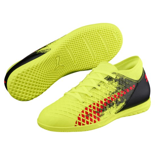 8e2fc81ec6a Chuteira Futsal Infantil Puma Future 18.4 IT - Amarelo+Vermelho