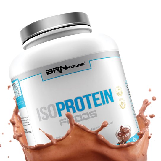 48d5c3a5ab8 Whey Protein Iso Protein Foods 2 kg – BRN Foods - Chocolate - Compre ...