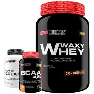 Waxy Whey 2 Kg + Bcaa 120 Tabs + Creatina 100G Bodybuiders 2cd76e4408aa7