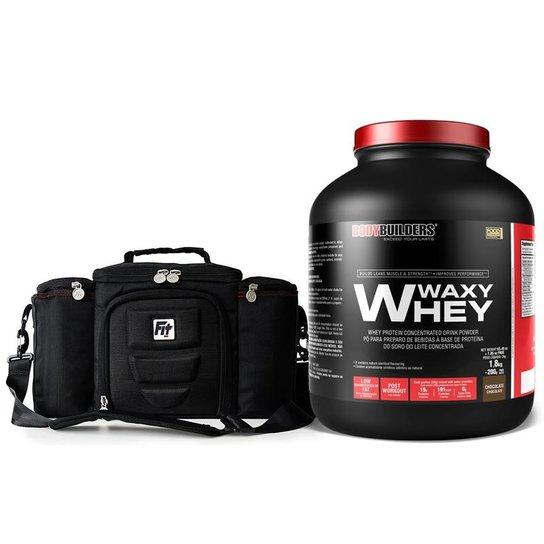 ba695f348 Bolsa Termica Fit Bag (Com 4 Potes) + Waxy Whey 2G Bodybuilders ...