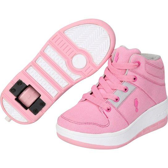 d792a4531b4 Tênis com Rodinha Zeep Starlight Infantil - Pink e Cinza - Compre ...