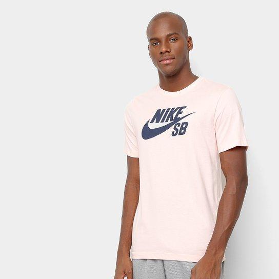 97548b2912 Camiseta Nike SB Dri-Fit Masculina - Salmão e Preto - Compre Agora ...