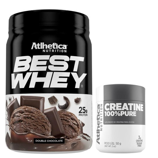 3e588e1c2 Best Whey Protein 3W 450g + Creatina 100% Pure 50g - Atlhetica Nutrition -