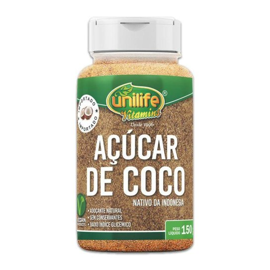 Açúcar de coco 150g Unilife -