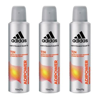 Adidas Adipower Masculino Kit –3  Desodorantes Antitranspirante Kit