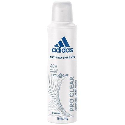 Adidas Desodorante Feminino Aerosol Cool & Care Pro Clear 150ml