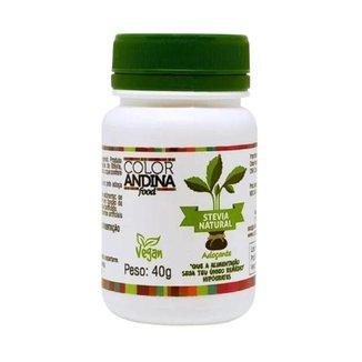 Adoçante Stévia 40g COLOR ANDINA 100% Natural Zero Açúcares