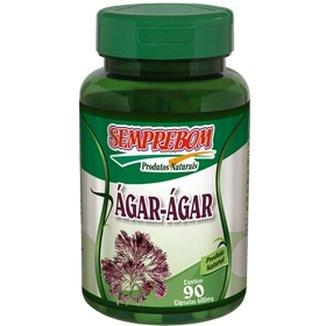 Ágar-Ágar - Semprebom - 90 Cápsulas - 500 mg