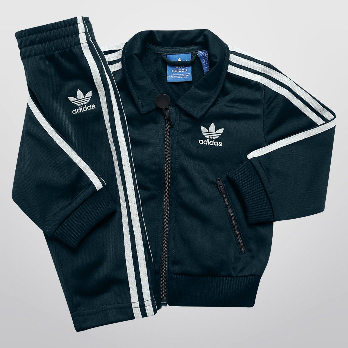 Agasalho Adidas 1 Firebird TS Infantil - Compre Agora  b7509519af0d9