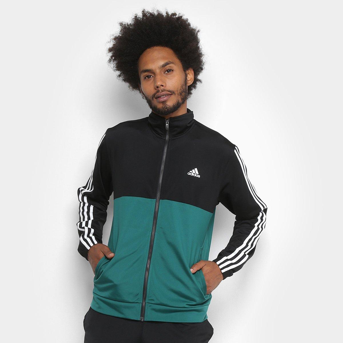 Agasalho Adidas Back 2 Basic 3S Masculino - Preto e verde - Compre ... e26c5be6826c4