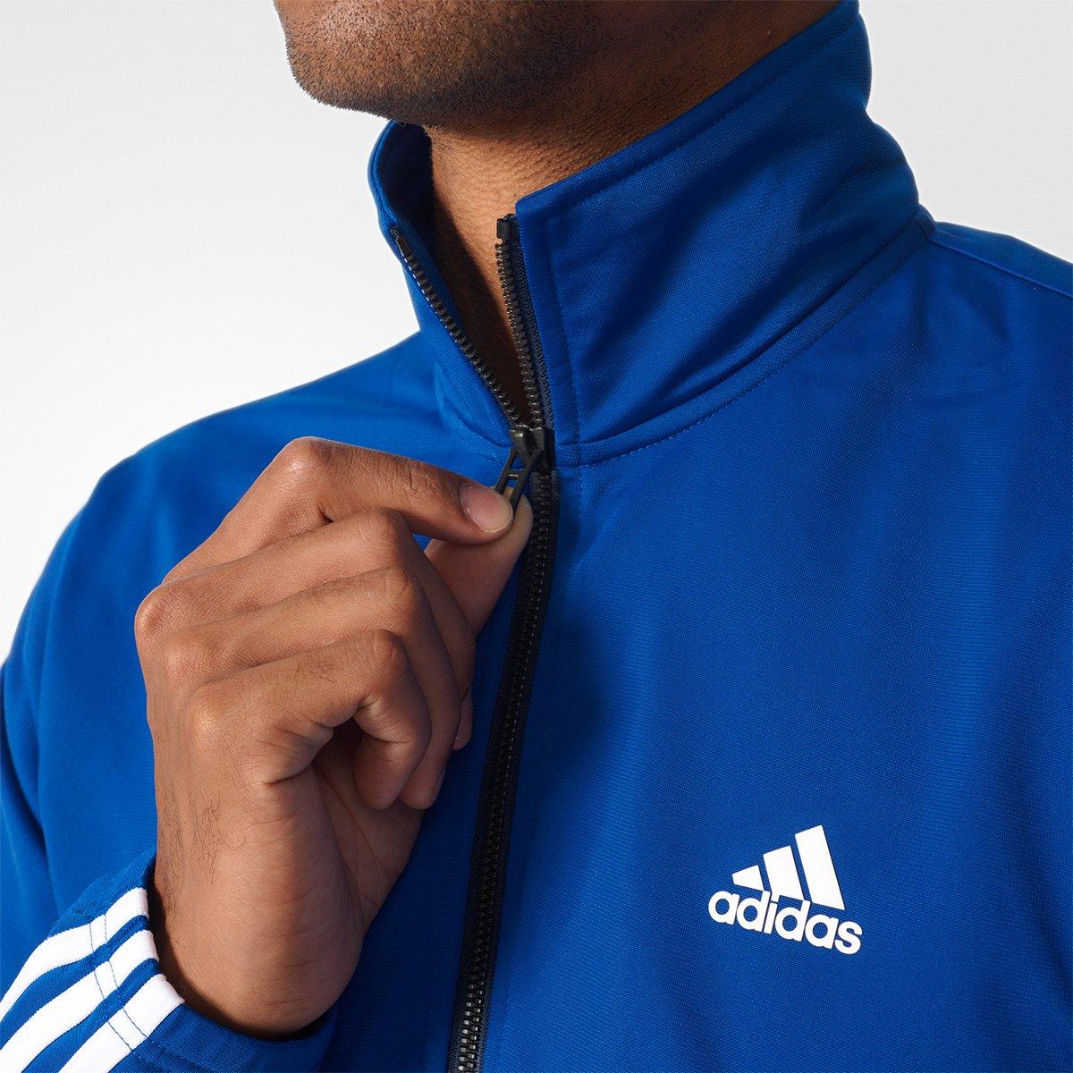 Agasalho Adidas Back 2 Basic 3S Masculino - Azul e Marinho - Compre ... ba8a80e6a7bd3