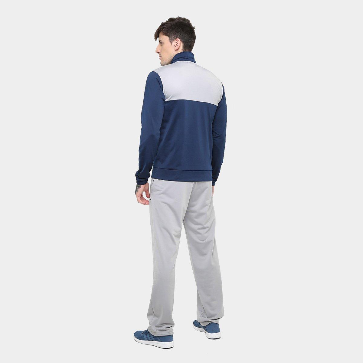 Agasalho Adidas Back 2 Basics Masculino - Marinho e Cinza - Compre ... 9bd62f0fcedcd