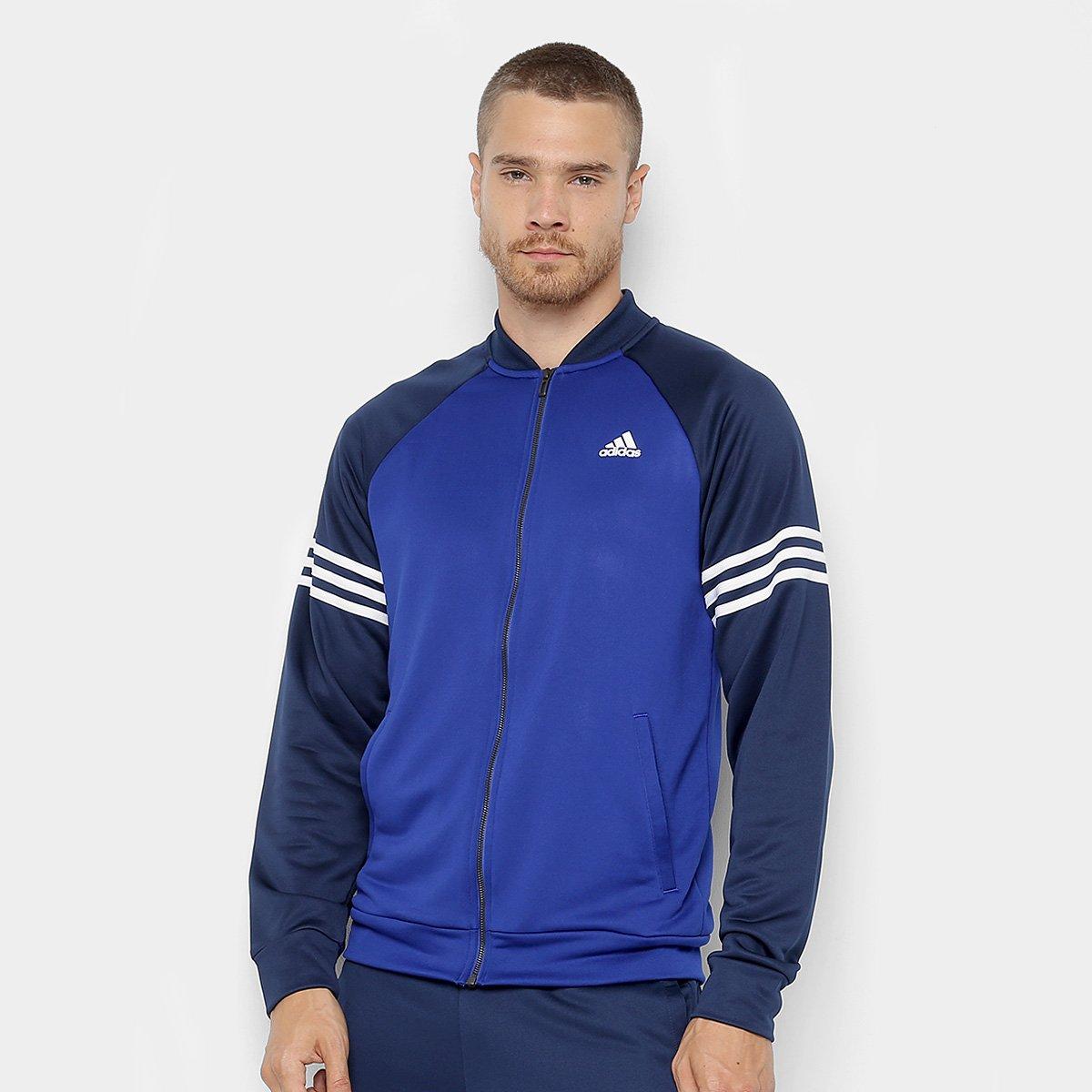 Agasalho Adidas Cozy Masculino - Azul e Marinho - Compre Agora ... 632549086e946