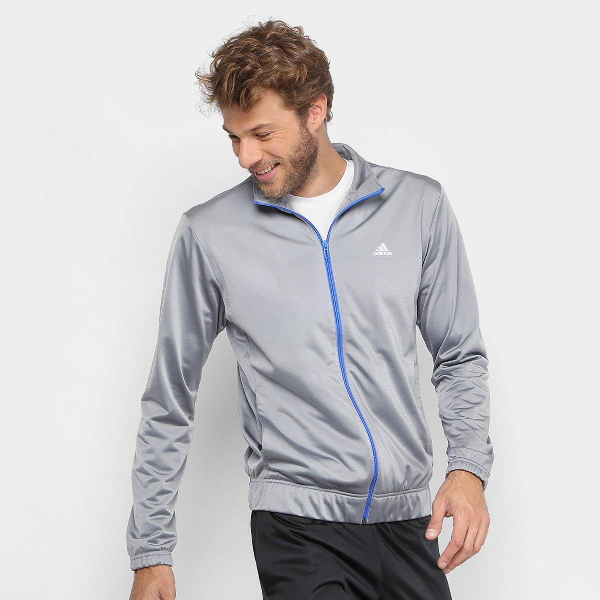 57f0803332 Agasalho Adidas Ep Masculino - Cinza e Preto - Compre Agora