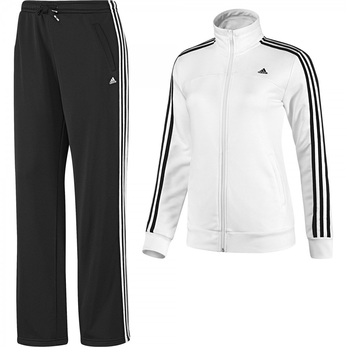 Agasalho Adidas Ess 3s Knit WOM - Compre Agora  c85f0edfa3e75