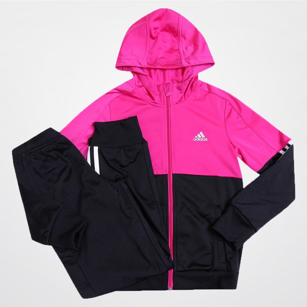 d0451a9c6c0 Agasalho Adidas Lg Ess Hd Pes T c  Capuz Infantil - Compre Agora ...