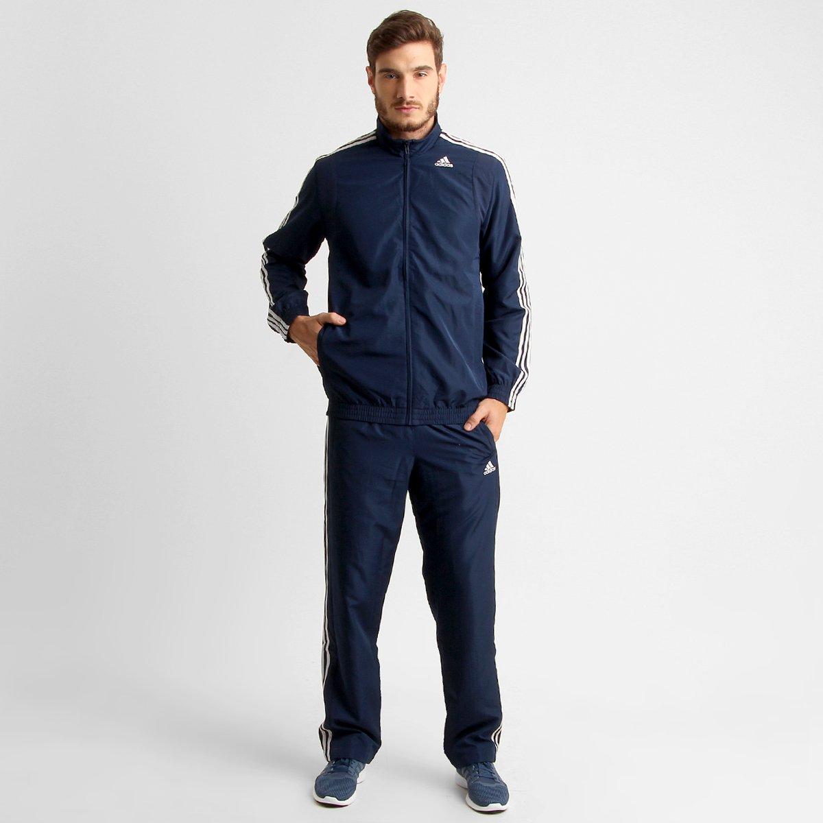 7b3cf41c89 Agasalho Adidas Woven Basic 3S - Compre Agora