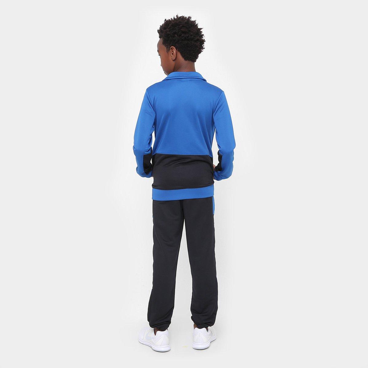 Agasalho Infantil Nike Nsw Trk Suit Pac Poly Masculino - Azul e ... d6e6cc1194e90
