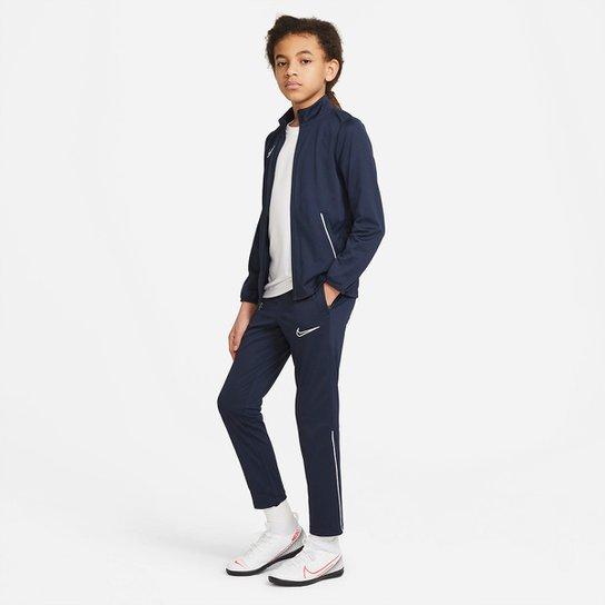 Agasalho Juvenil Nike Academy Suit Dri-Fit - Marinho+Branco