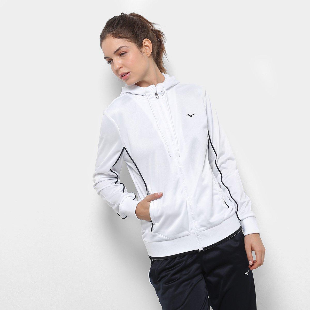 Agasalho Mizuno Pocket Feminino - Preto e Branco - Compre Agora ... 21a01eb0f056e