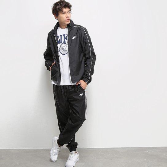 Agasalho Nike NSW Suit Basic Masculino - Preto+Branco