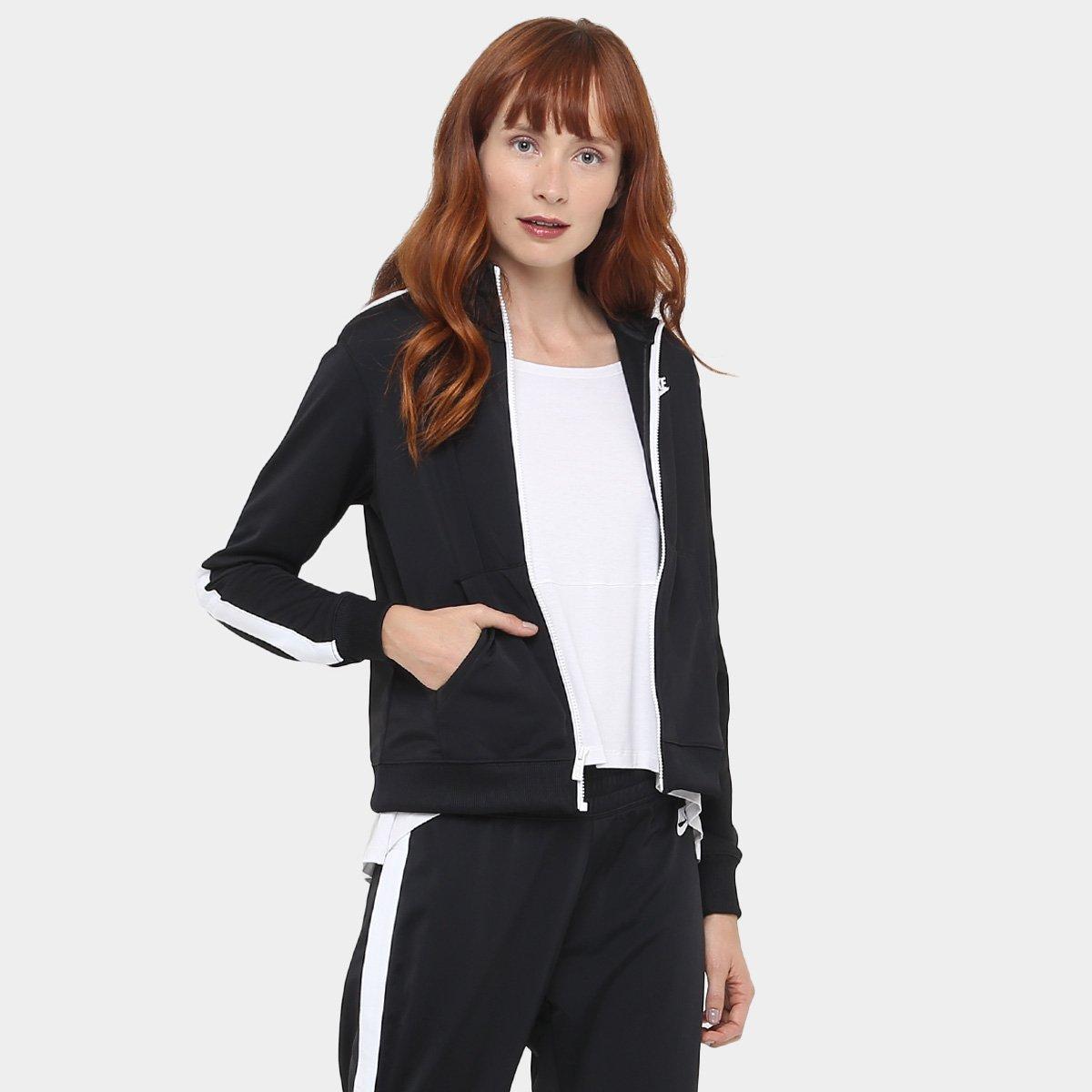 56cd4937a8 Agasalho Nike Pk Oh Feminino - Preto e Branco - Compre Agora